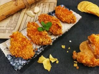 薯片鸡翅~把孩子爱吃的放在一起,鸡翅外酥里嫩,完胜KFC,自己做健康又美味哦😊