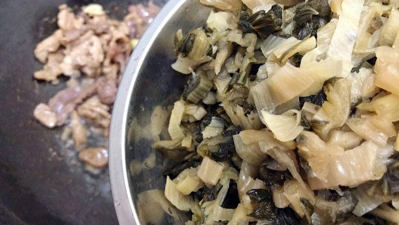 杭帮经典菜の肉片炒二冬,下冬腌菜