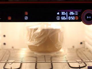 """""""蜂芒""""吐司,醒發箱溫度28度濕度60%醒發50分鐘"""