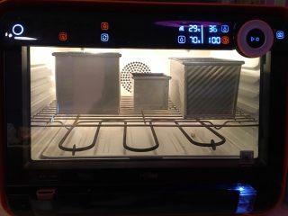 """""""蜂芒""""吐司,醒發箱溫度36度濕度70%第二次發酵60分鐘"""