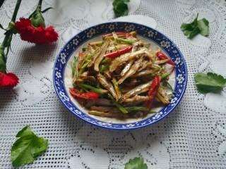 #下酒菜#炒白公鱼干,真的是香喷喷的呢,越嚼越带劲,最好的下酒菜哦。