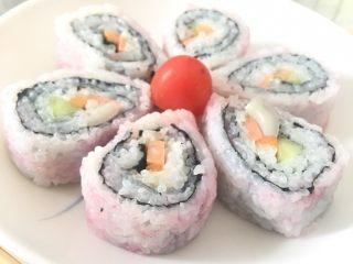 翻转樱花寿司,樱花寿司就做好了!