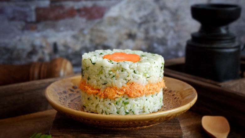 宝宝辅食—翡翠肉松菜饭
