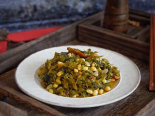 猪油渣雪菜炒黄豆
