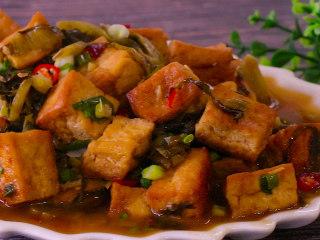 酸菜豆腐,开始享用吧,很香很入味