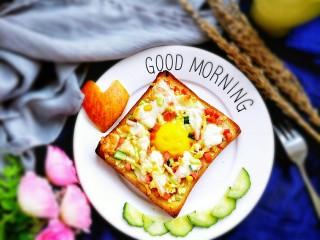 #花样土司#+土司缤纷蛋披萨,颜色非常漂亮
