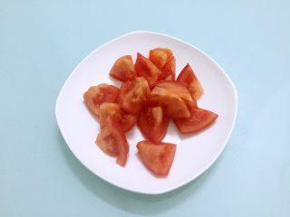 烧茄子,番茄洗净滚刀切块