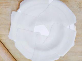 嫩脆香蕉派,很容易擀,薄的都可以看到盘子底下了,然后放冰箱冷藏15-20分钟。