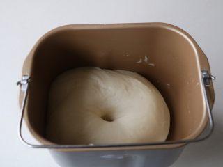 平底锅披萨,面团发酵至原来大小的2-3倍左右;