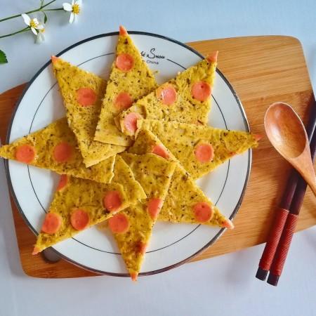 春季补钙食谱-虾皮火腿饼