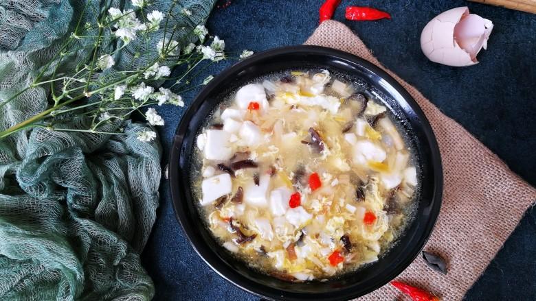 酸辣豆腐汤,特别的好吃😊