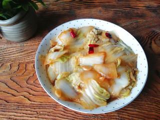 蚝油白菜,盛出装盘即可