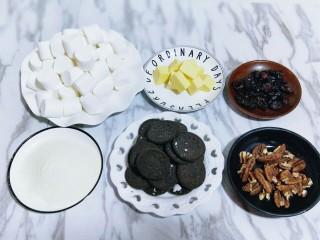 奥利奥雪花酥,食材准备完成。