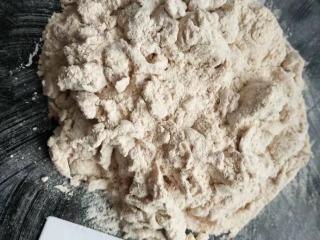 小金鱼馒头,老面头撕碎然后加水加面粉和面
