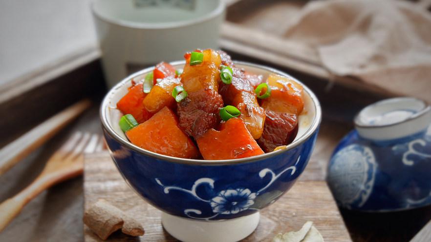 五花肉烧胡萝卜
