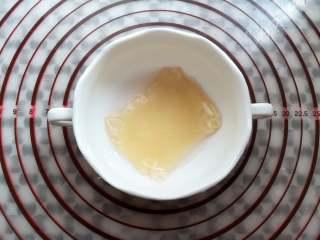 山楂雪丽球,吉利丁片冷水泡软