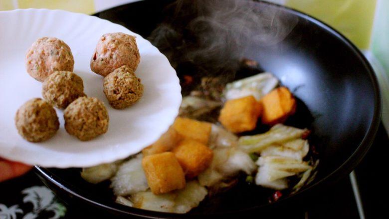 海鲜什锦一锅烩,加入自制的肉丸