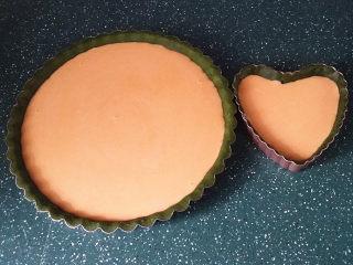 抹茶奶酪南瓜派,倒入奶酪南瓜糊约8分满