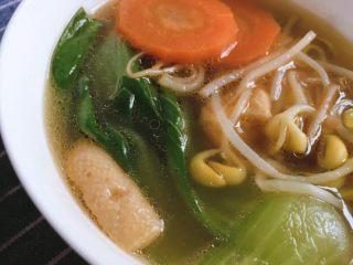 青菜豆泡汤,青菜豆泡汤,完成