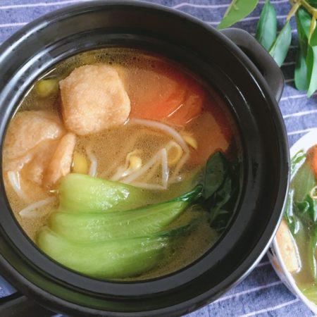 青菜豆泡汤