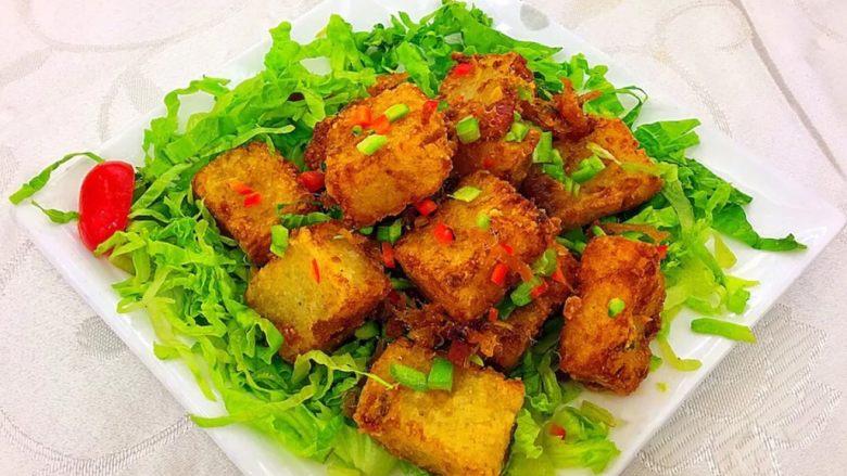 广式腊味萝卜糕,煎着吃,美味!