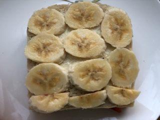 高颜值好味道的水果三明治,再摆上香蕉片。