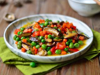 胡萝卜炒豌豆