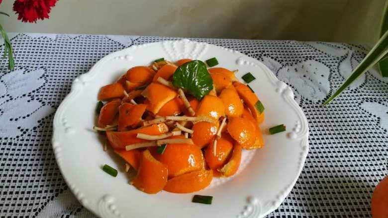 #时令菜#清香开胃的折耳根凉拌橙皮