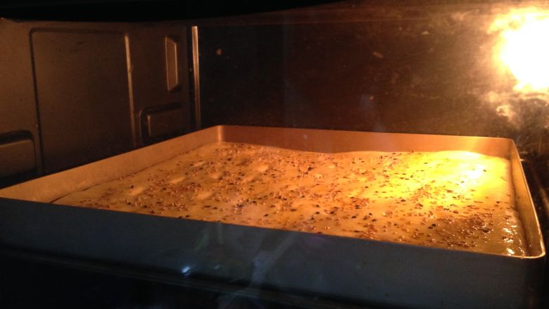 肉松面包卷,入预热好的烤箱,180度、中层、上下火烤15分钟