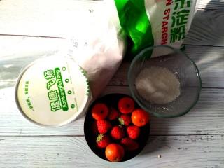 雪人⛄️的畅想~草莓🍓大福,准备食材,称重。