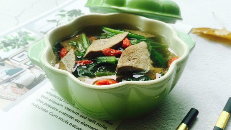 春季养生汤~枸杞菠菜猪肝汤,新鲜美味的猪肝汤😋