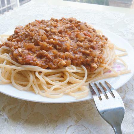 番茄蘑菇肉酱意大利面