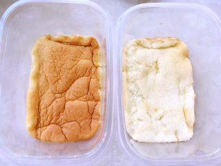 奶油盒子蛋糕,取一片铺在盒子底部