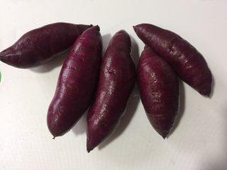 紫薯苹果球&山药🍎球,紫薯清洗干净