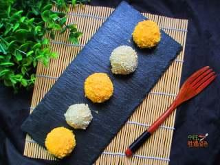 干吃汤圆,汤圆外表金黄酥脆 里面的馅非常香甜