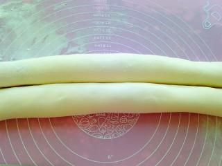 油酥饼,卷成圆柱体