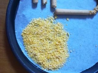 #吃唐诗品宋词#门泊东吴万里船,用面包糠做成沙滩的样子,咱们的沙滩是金黄色的,是黄金海岸哦,很浪漫,是不是?