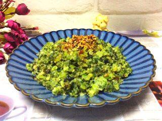 (两吃)莴笋叶蒸麦饭