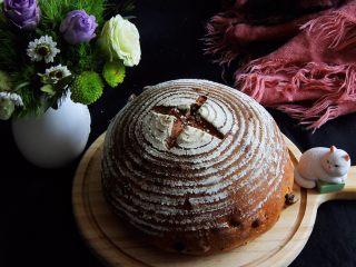 蔓越梅乡村面包,烤完冷却,装饰一下拍个照。