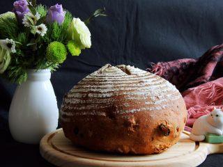 蔓越梅乡村面包,完美的形状,美味可口的面包就出来了!