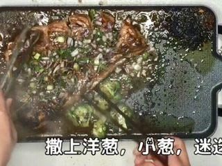 羊肉,撒蔬菜碎