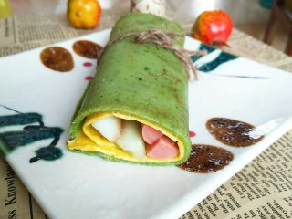 适合宝宝吃的营养健康菠菜卷,成品图!准备开吃吧😄!