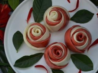 玫瑰花馒头,美美哒玫瑰花馒头。