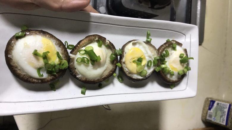 清蒸香菇鹌鹑蛋,起锅摆盘撒上葱花即可