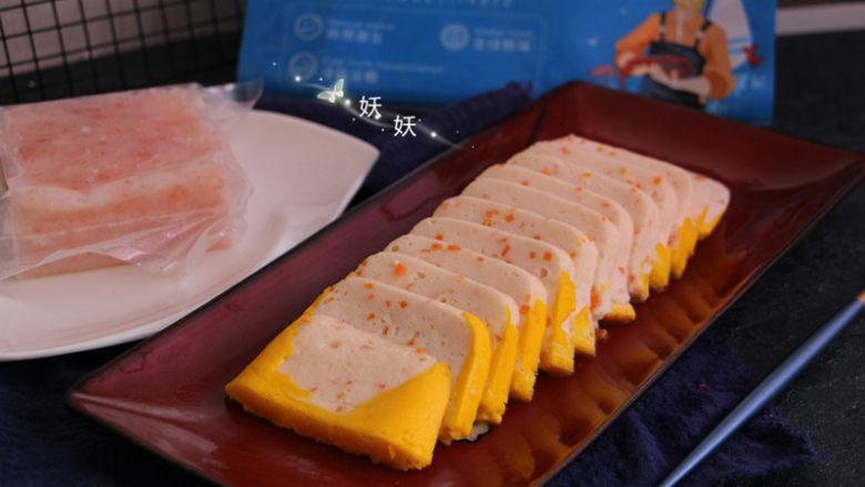 南极磷虾蒸虾糕,成品