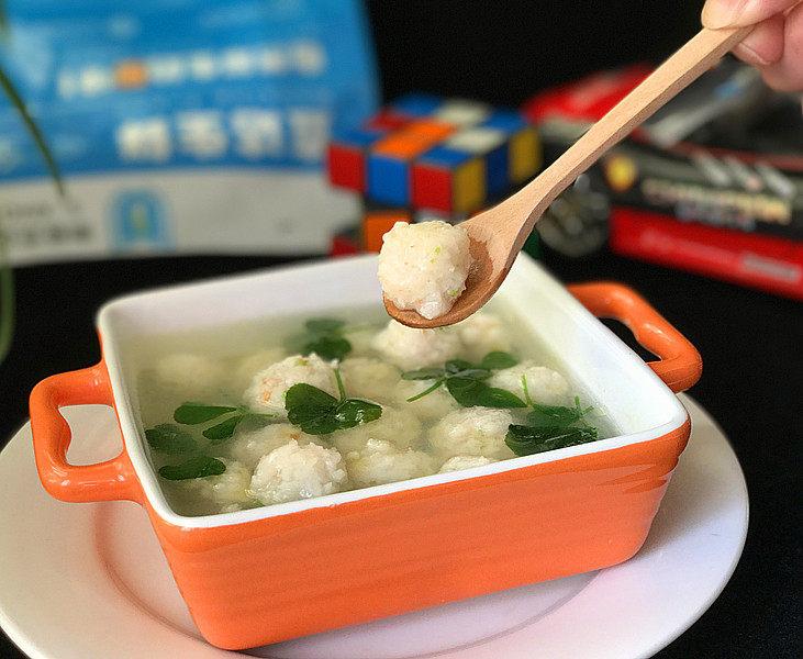 磷虾丸子苜蓿汤#宝宝辅食#