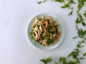 新鲜茶叶入菜,春天里最清新淡雅的味道