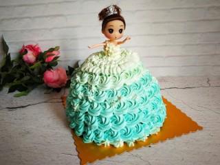 萌翻少女心-芭比蛋糕,成品