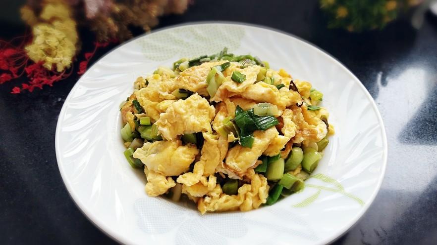青蒜炒鸡蛋