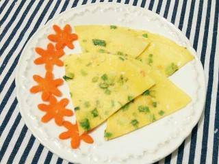 简单营养的快手早餐――葱花鸡蛋饼